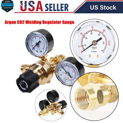 Cga580 Argon Co2 Regulator Gauge Flow Meter For Mig Tig Welding Gas Welder