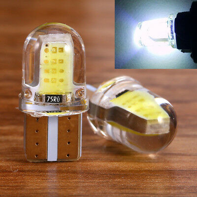 2pcs T10 194 168 W5W COB LED Car License Plate Dome Map Light Bulb White