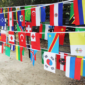 100 pcs Countries String Flag International World bar party Banner Bunting