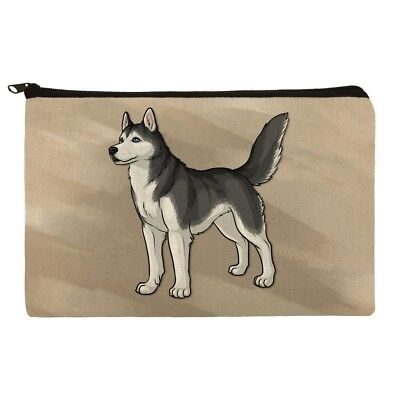 Siberian Husky Pet Dog Makeup Cosmetic Bag Organizer Pouch