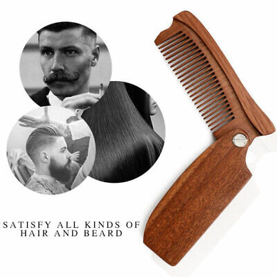 Portable Wooden Pocket Folding Moustache Comb Beard Hair Comb Anti-Static Gift](Mustache Gifts)