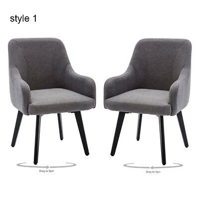 Set of 2 Armchair Swivel Accent Chairs Desk Chair Dinning Chairs Home Office -
