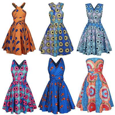 Damen Afrikanische Mode Gedrucktes Multiway Kleid Partykleid Abendkleider Sommer