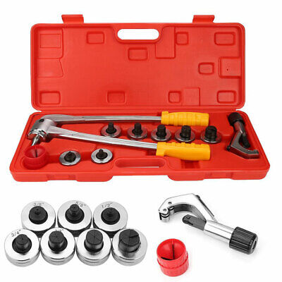 Manual Tube Flaring Expander Tool Hydraulic Copper Heads Tube Swaging Kit
