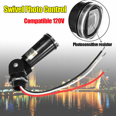 Led Dusk To Dawn Outdoor Swivel Light Control Sensor Photoelectric Switch 120v