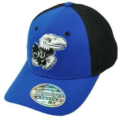 the latest a5058 b7175 NCAA Zephyr Kansas Jayhawks Flex Fit Medium Large Stretch Jersey Mesh Hat  Cap