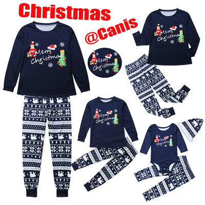 US Christmas Xmas Kid Parent Family Matching Set Home Sleepwear Pajamas