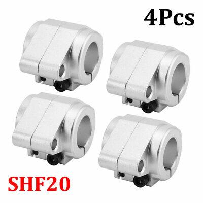 4pcs Shf20 High Strength Linear Rod Rail Shaft Support Aluminum Alloy Sliver