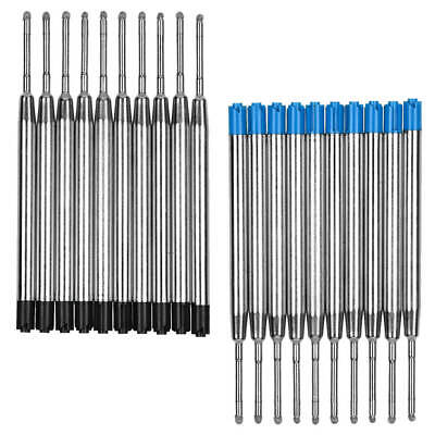 10X Black Blue Ballpoint Pen Ink Refill Fine Point Medium for Parker Style (Black Medium Ballpoint Pen)