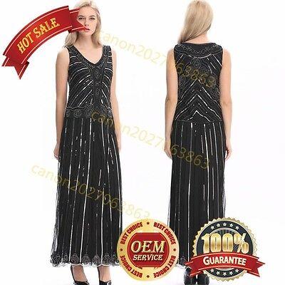 Charleston Kleid Schwarz Gold Mafia Flapper 1920 20er Jahre Damen Kostüm - Mafia Kostüm 1920