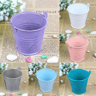 12pcs Mini Metal Bucket Tin Candy Box Buckets Wedding Party Souvenirs Gift - Mini Gifts