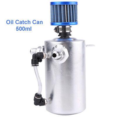 Aluminium Universal 500ml Motoröl Catch Tan kann Tank mit Luftfilter (Aluminium Luft Tank)