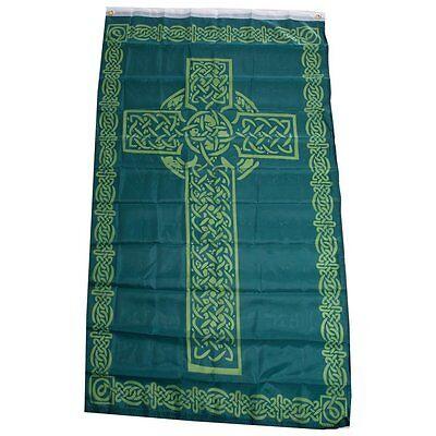 Irish Celtic Cross Flag 3x5 Ireland Banner Christian Catholic St Patrick Saint  - Ireland Flags