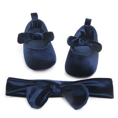 Newborn Baby Infant Girl Crib Shoes Soft Sole Prewalkers Anti-slip Sneakers Pram