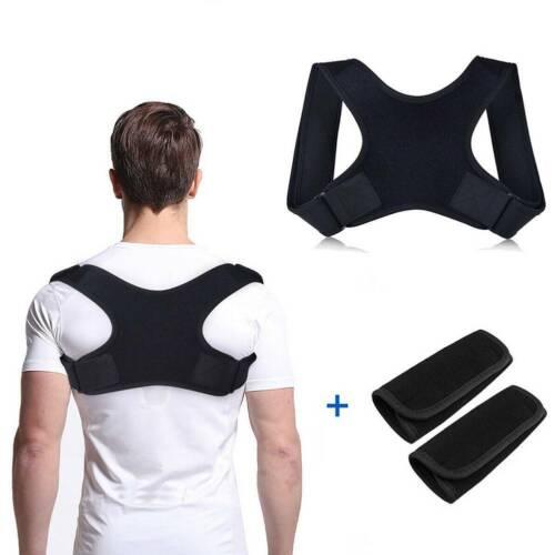 Women Mens Shoulder Belt Posture Corrector Brace Clavicle Ba
