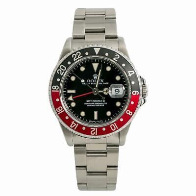 Rolex GMT-Master II 16710 Mens Automatic Watch Coke Bezel Stainless Steel 40mm