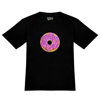 Pink Donut with Pink Frosting and Sprinkles Men's Novelty T-Shirt