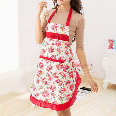 Women HOT Cooking Chef Kitchen Home Restaurant Bib Aprons Dress With Pocket Mgic Aprons