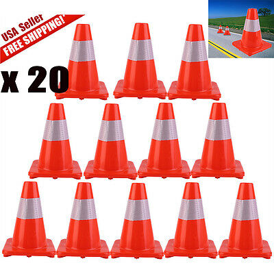 Lot 20 1218 28 Reflective Wide Body Safety Cones Construction Traffic Cone
