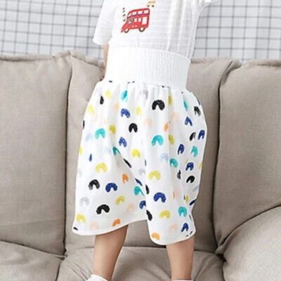 как выглядит 2in1 Waterproof and Absorbent Comfy Children Diaper Skirt Short for Baby Toddler фото