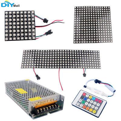 Ws2812 5050 8x8 16x16 8x32 Rgb Flexible Led Matrix Panel Addressable Power Pack