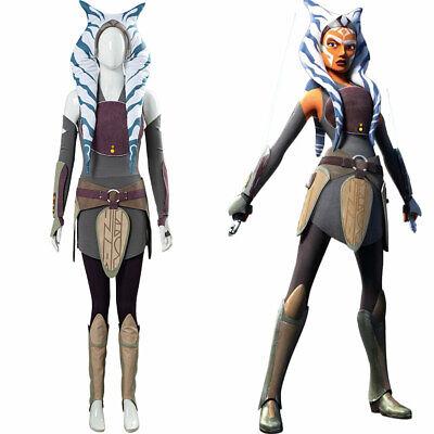 Star Wars Rebels Ahsoka Tano Cosplay Outfit Halloween - Ahsoka Tano Halloween Kostüm