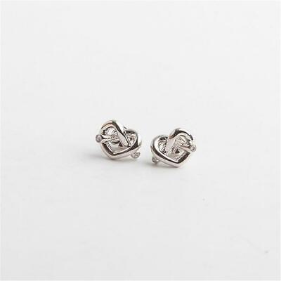 Kate Spade New York Love Me Knot Stud Earrings Silver Tone
