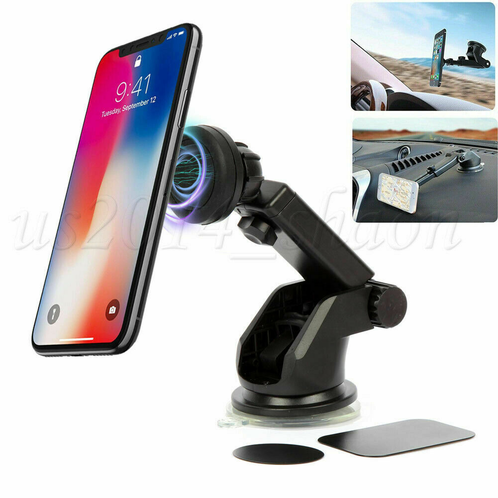 Universal Car Dashboard Magnetic Phone Holder 360 Rotation With Mounting Plate Cell Phone Accessories