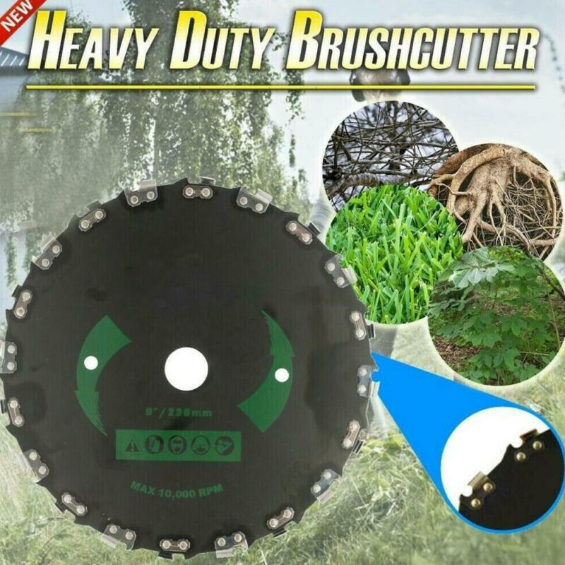 """Chain Saw Tooth Brush-Cutter Grass Blade Heavy Duty 9"""" for G"""