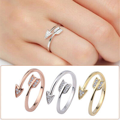Fashion Silver Arrow Open Joint Ring Adjustable Engagement Rings Couple New