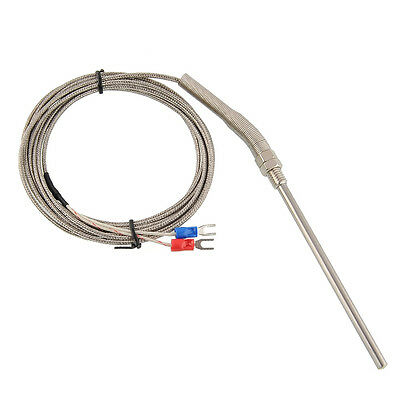 3m Stainless Steel Thermocouple K Type 100mm Probe Sensor High Temperature