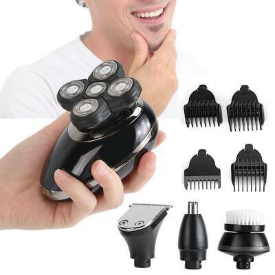 5 IN 1 4D Rotary Men Afeitadora eléctrica Recargable Cabeza Calva Shaver...