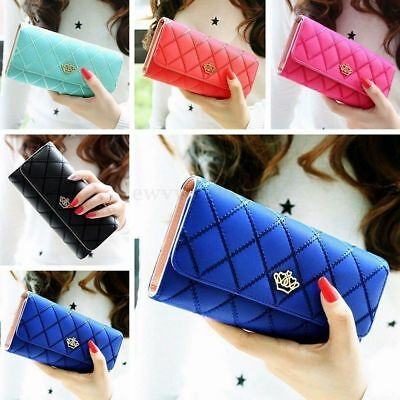 Purse Wallet (Lady Women Fashion Hasp Wallet Long Purse Clutch Crown Card Holder Handbag)