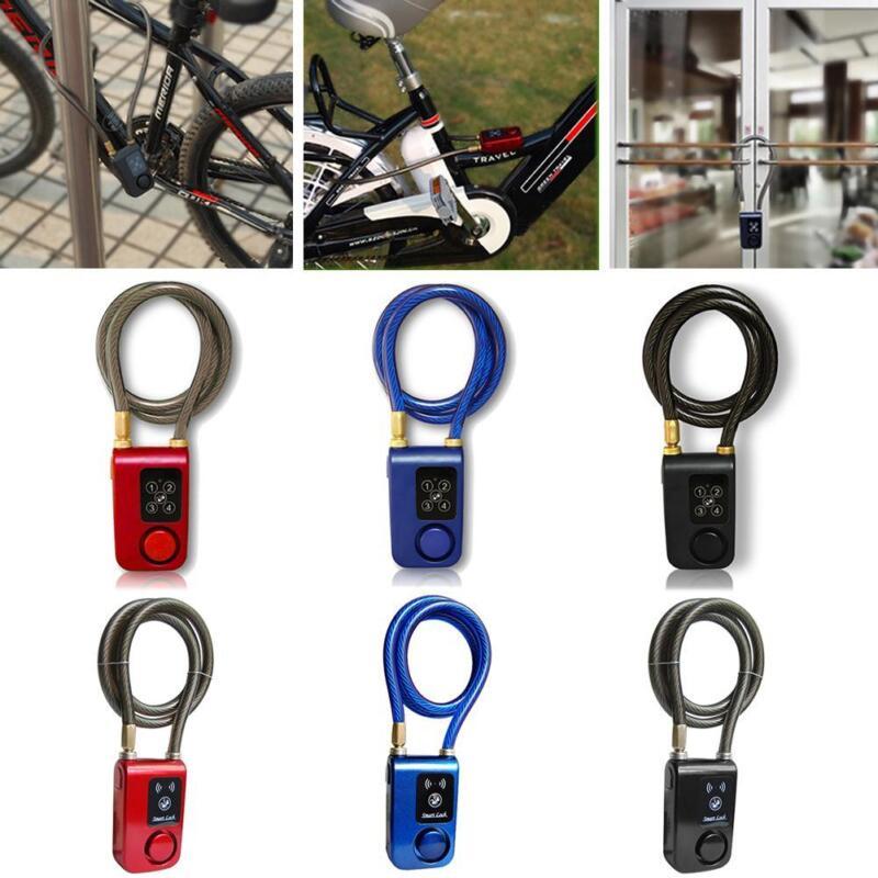 Keyless Bluetooth Smart Lock Anti Theft Alarm Chain For Bike