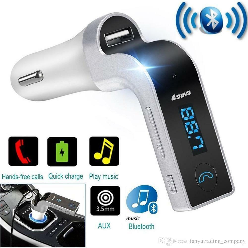 Trasmettitore FM Bluetooth Auto Lettore MP3 per vivavoce wireless Caricatore TF