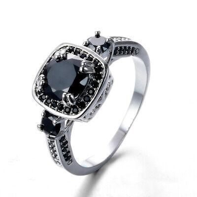 Angle Wings Black Onyx Gemstone Vingate Silver Woman Ring Size 6-10 RW1650](Black Angle Wings)