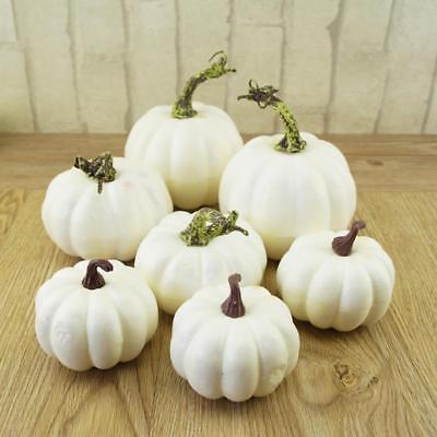 Halloween Pumpkin Crafts (6X Artificial Pumpkin Foam Festival Halloween Party Garden Decor Ornament)