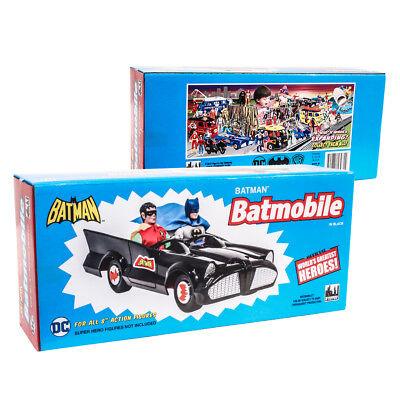 DC Comics Retro Batman Batmobile Playset (Black) by - Batman Playset