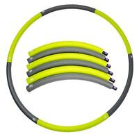 Fitness Exercise Hula Hoop Core Foldable Hula Hoop Elastic Foam Smooth Type 90cm