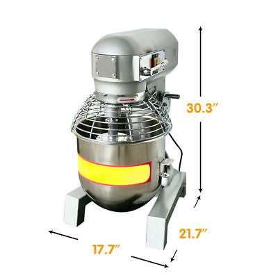 30qt Commercial Dough Mixer Food Mixer Multifunction Gear Driven Blender Bakery