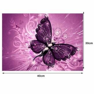 5D Butterfly - PURPLE - Diamond Painting - DIY - Brand new.