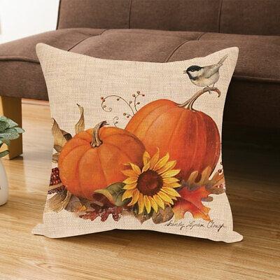 Fall Halloween Pumpkin Pillow Case Waist Throw Cushion Cover Sofa Home Decor NEW Home & Garden