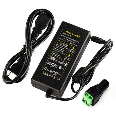 Power Supply Adapter Ac 100-240v To Dc12v 5a 60w With Us Power Cord For Led Fo