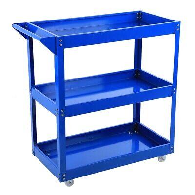 Tool Trolley 3 Shelf Workshop Utility tray Garage Equipment Wheel Cart 200KG