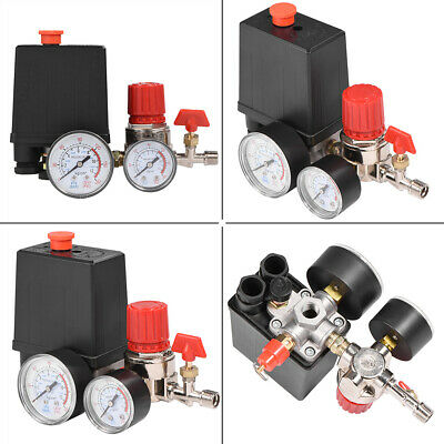 Air Compressor Pressure Switch Control Valve Manifold Regulator W Gauges Relief