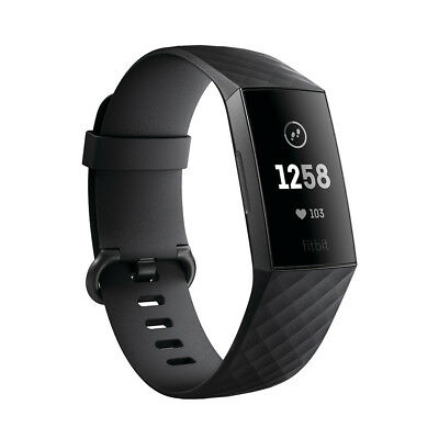 Fitbit Charge 3 Heart Rate + Fitness Band Activity Tracker Graphite/Black