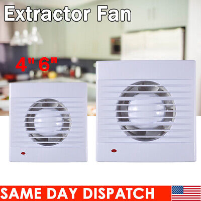 """ABS 4 6"""" Wall Ventilation Extractor Exhaust Fan Blower Window Bathroom Home 110V"""