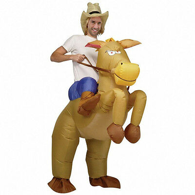 Joblot 10pc Cowboy Inflatable Costume Horse Donkey Fancy Dress Costume - Horse Cowboy Costume