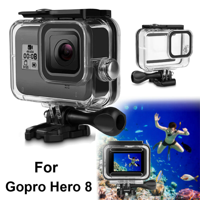 For Gopro Hero 8 Black Underwater Waterproof Housing Case Diving Protect Cover