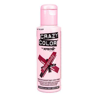 Renbow Crazy Color Haarfarbe Auswaschbar Tnung Hair Dye 100ml Burgundy Weinrot